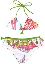 Roberto Cavalli tassel detail bikini set - kids - Spandex/Elastane/polyester - 4 yrs