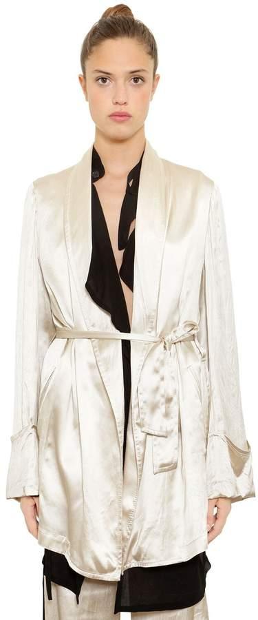 Ann Demeulemeester Satin Robe-Style Jacket