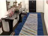 """3.1 Phillip Lim One-of-a-Kind Neerav Peshawar Gabbeh Hand-Knotted Runner 3'1"""" x 9'5"""" Wool Navy/Ivory/Red Area Rug Isabelline"""