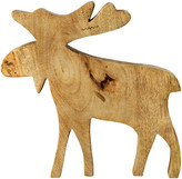 Leonardo Wooden Elk Christmas Ornament - Large