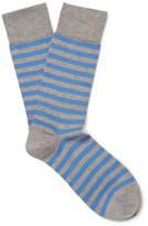 John Smedley Hecate Striped Sea Island Cotton-Blend Socks