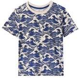 Art & Eden David Ocean Waves Organic Cotton T-Shirt