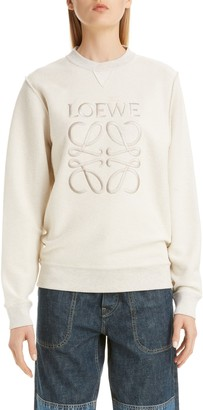 Loewe Logo Embroidered Inside Out Sweatshirt