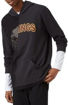 Topman Men's Eagle Kings Spliced Graphic Hoodie