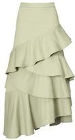 Banana Republic Asymmetrical Cascade Ruffle Skirt