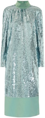 Tibi Sequined midi dress