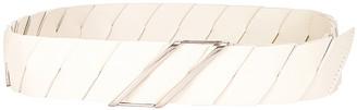 Bottega Veneta Belt in Plaster & Silver | FWRD