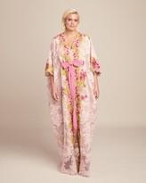 Marchesa Plunging V Neckline Corded Lace Caftan