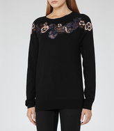 Reiss Amelia Embroidered Jumper