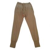 Isabel Marant Khaki Polyester Trousers