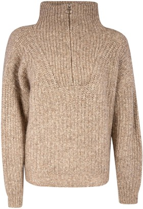 Isabel Marant Ribbed Knit Turtleneck Jumper