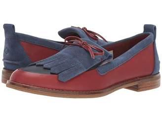 Sperry Seaport Penny Kiltie (Wine/Navy) Women's Shoes