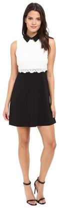 Jessica Simpson Women's Collard Lace Combo Dress
