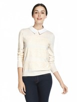 Draper James Lace Stripe Augusta Sweater