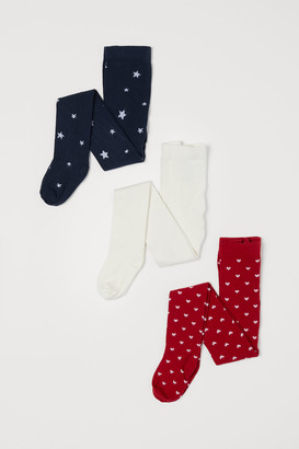 H&M 3-pack Tights - Red