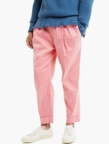 Haider Ackermann Pink High-waisted Linen Trousers
