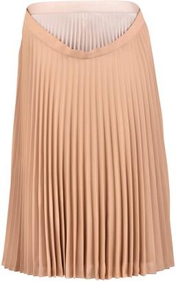 Burberry Layered Pleated Skirt