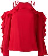 Elie Saab ruffled cold shoulder blouse