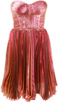 Maria Lucia Hohan Lolicactus metallic pleated bandeau dress - women - Silk/Nylon/Polyester/Spandex/Elastane - 34