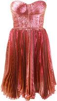 Maria Lucia Hohan Lolicactus metallic pleated bandeau dress - women - Silk/Nylon/Polyester/Spandex/Elastane - 34
