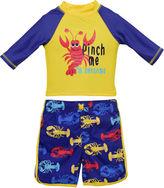 CANDLESTICKS Candlesticks Lobster Rash Guard Set - Baby