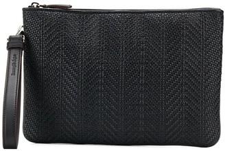 Ermenegildo Zegna Woven Clutch Bag