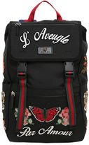 Gucci Embroidered Nylon Backpack