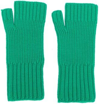 Ami Fisherman's Rib Fingerless Gloves
