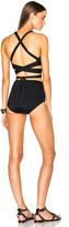 Proenza Schouler Wrap Triangle Bra Bikini Set