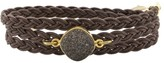 Alexandra Beth Designs Brown Druzy Wrap Bracelet