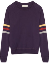 The Great Striped Cotton Sweater - Dark purple