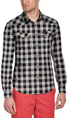 Wrangler Men's L/s Western Shirt Casual (Black 01), Medium