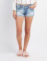 Charlotte Russe Destroyed Denim Shorts