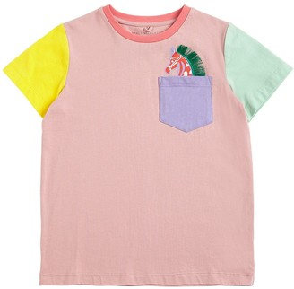 Stella Mccartney Kids Color Block Cotton Jersey T-Shirt