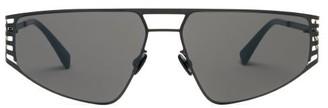 Mykita Cutout Stainless-steel Sunglasses - Mens - Black