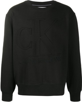 Calvin Klein Jeans Logo-Embossed Sweatshirt