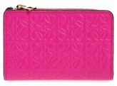 Loewe Women's Small Leather Zip Wallet - Pink