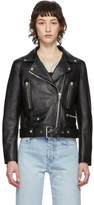 Acne Studios Black Leather Cropped Jacket