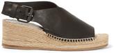 Rag & Bone Sienna Leather Espadrille Wedge Sandals - Black