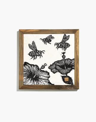 Madewell Cromwell Home Framed Honey Bees Art Print
