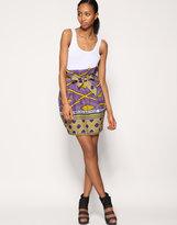 ASOS AFRICA Printed Paperbag Waist Skirt