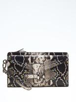 Banana Republic Snake-Effect Leather Statement Wristlet
