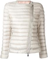 Moncler collarless fitted jacket - women - Feather Down/Polyamide - XS