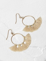 White Stuff Hessian tassel earring