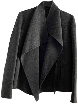 Joseph Anthracite Wool Coat for Women