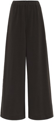 Joseph High-rise cotton-jersey wide pants