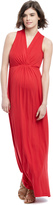 Motherhood Maternity Maxi Dress- Red