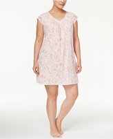 Miss Elaine Plus Size Floral-Print Knit Nightgown