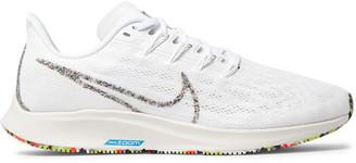 Nike Running Air Zoom Pegasus 36 Mesh And Rubber Running Sneakers