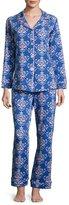 BedHead Damask-Print Pajama Set, Navy